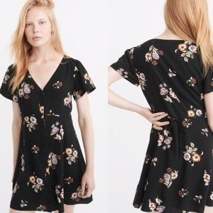 Abercrombie & Fitch Floral Tie Waist Dress
